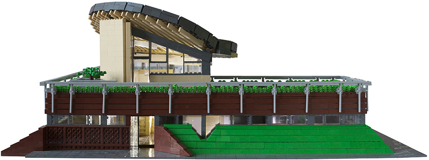 Maggie's Centre (2013) in Newcastle, UK, by Cullinan Studio. LEGO Model by Steve Mayes.