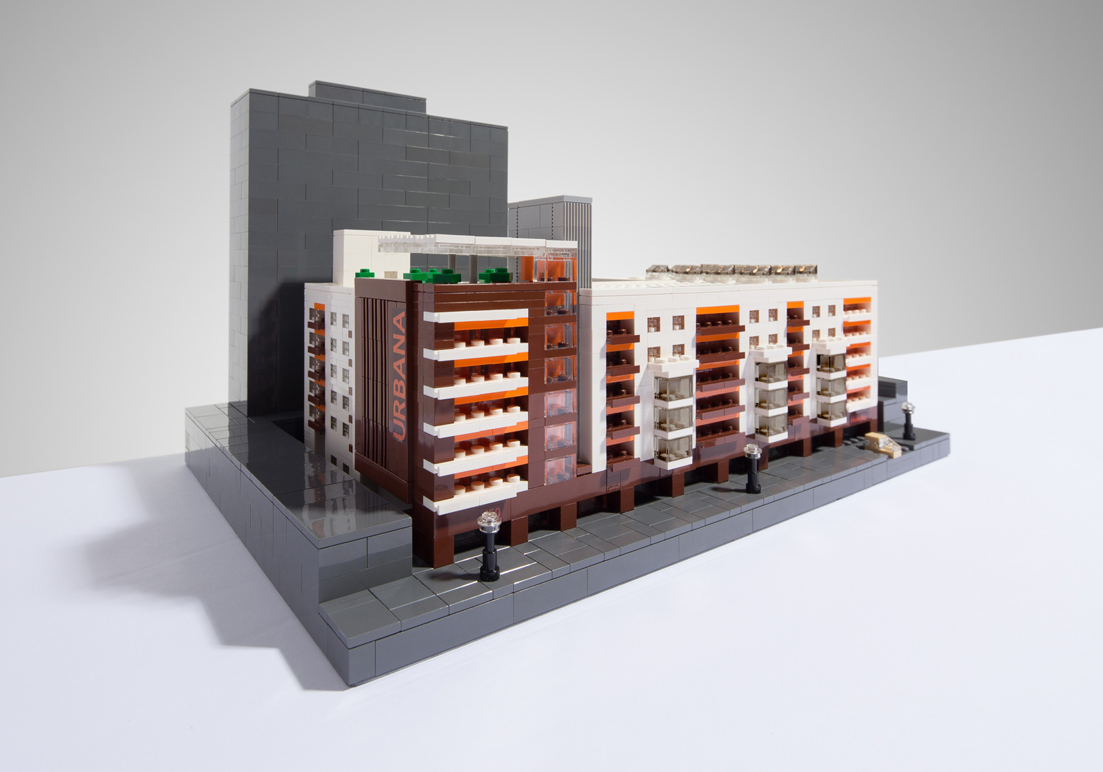 Urbana LEGO Model. (Photo by Carlo Sese.)
