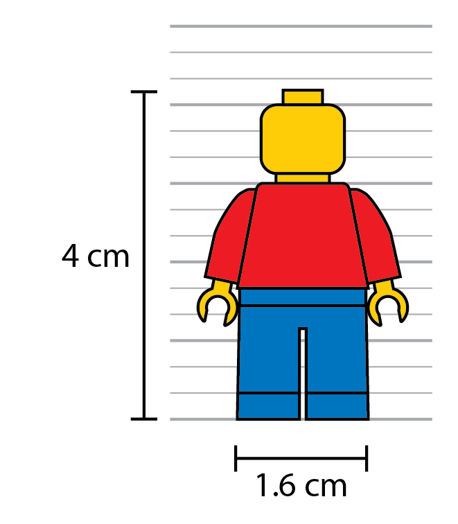Width And Height Of Clic Lego Minifigure
