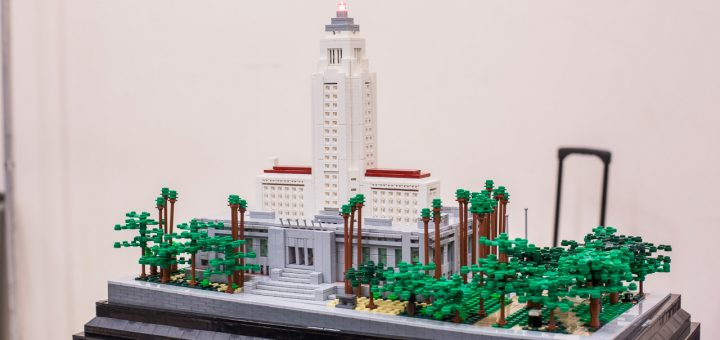 """Amazing model of the beautifully proportioned Art Deco """"Los Angeles City Hall"""" by Bruce Heller."""