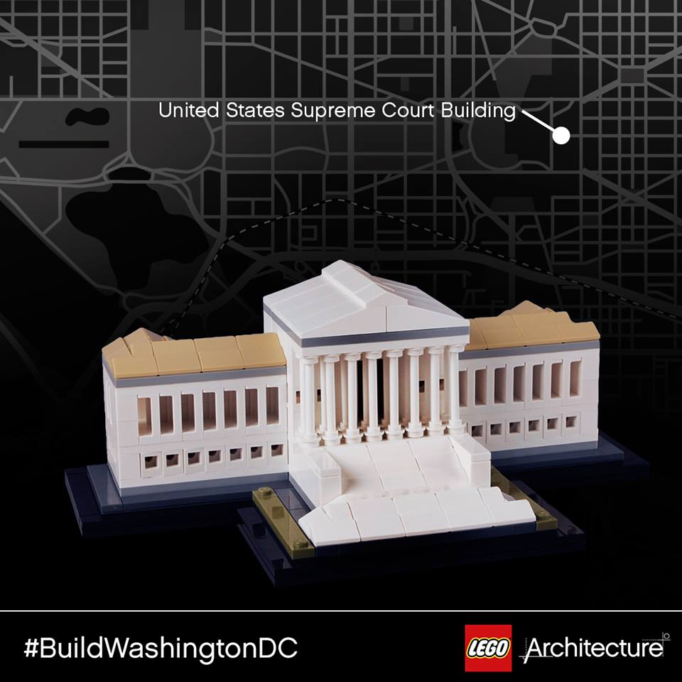 Legoarchitecture Tour Of Washington Dc Brick Architect Lego 21006 Architecture The White House United States Supreme Court 1935 By Cass Gilbert Photo