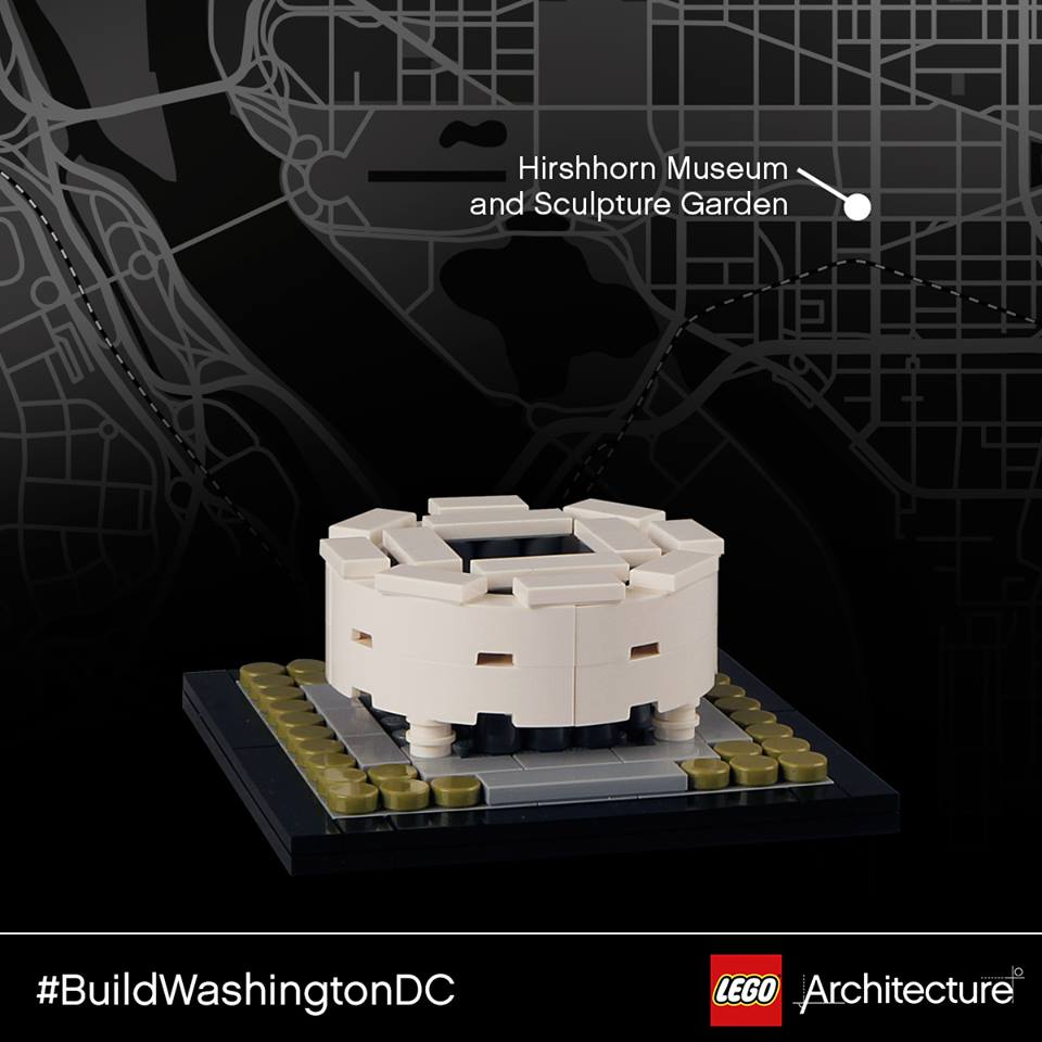 Legoarchitecture tour of washington dc brick architect - Hirshhorn museum sculpture garden ...