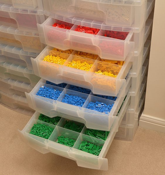 Really Useful Scrapbook Drawers with Dividers. (Photo from Brickset) & LEGO Storage for Large Collections u2013 BRICK ARCHITECT