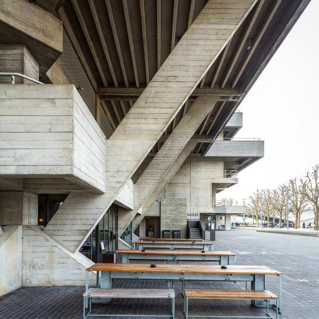 Royal National Theatre 1976 in London UK by architect Denyshellip