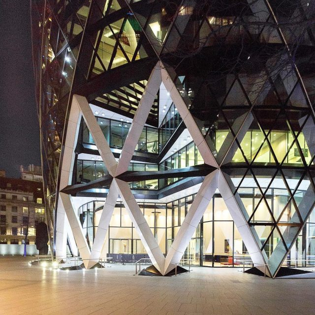The Gherkin officially 30 St Mary Axe 2003 in Londonhellip