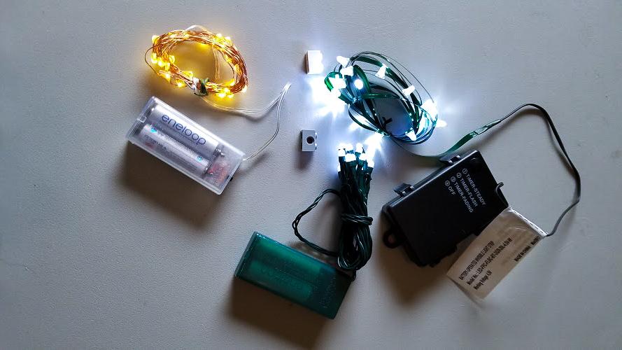 Three Diffe Generic Battery Ed Led Christmas Lights
