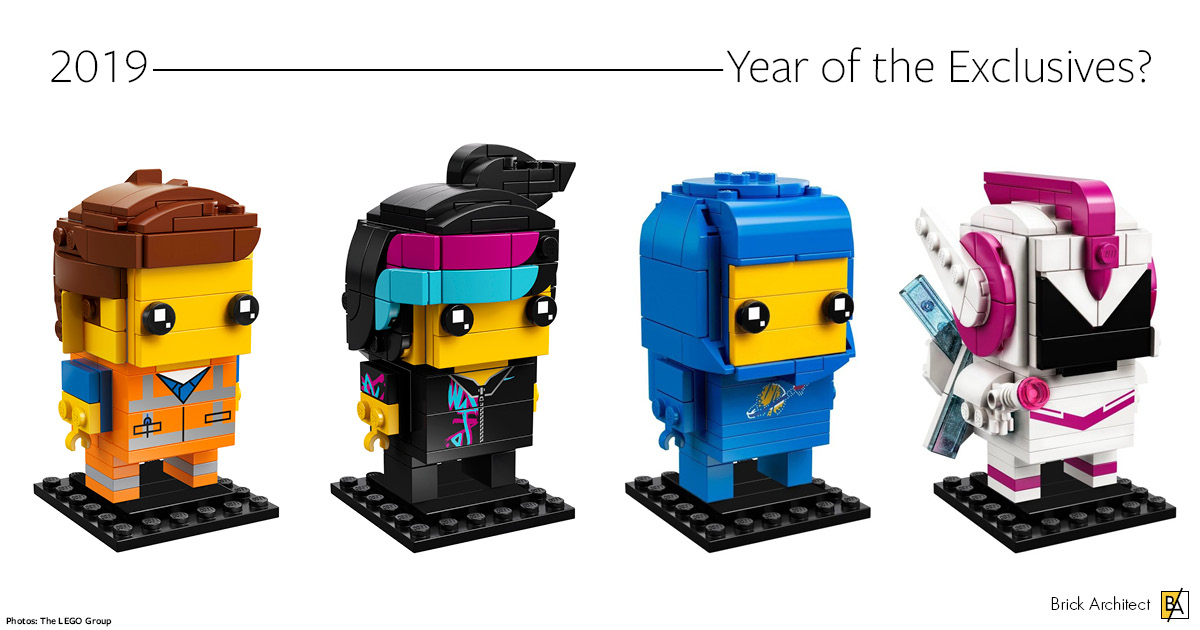 Brickheadz based on The LEGO Movie 2: The Other Part.