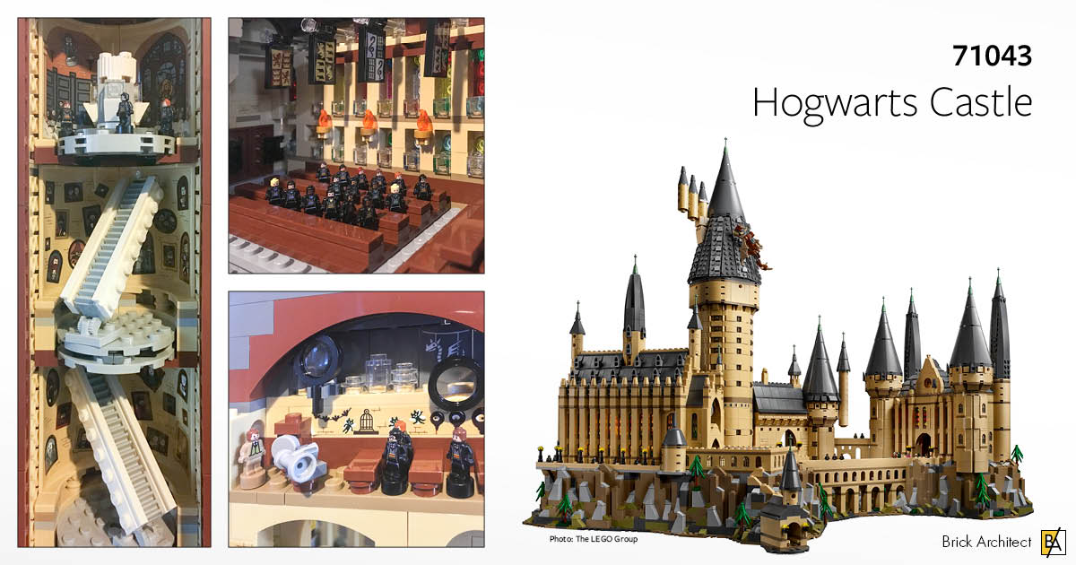 ʀᴇᴠɪᴇᴡ 71043 Hogwarts Castle Brick Architect
