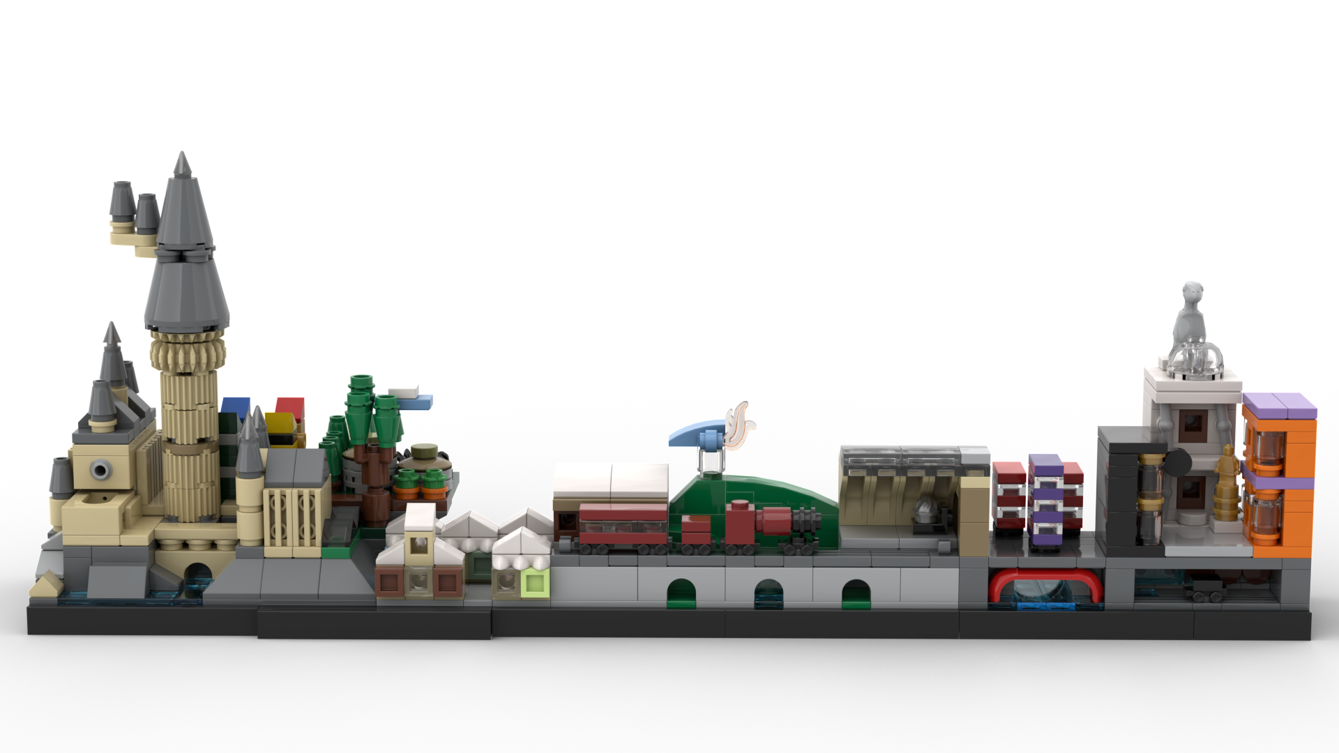Movie inspired lego skylines by matteo mobili brick for Mobili harry potter