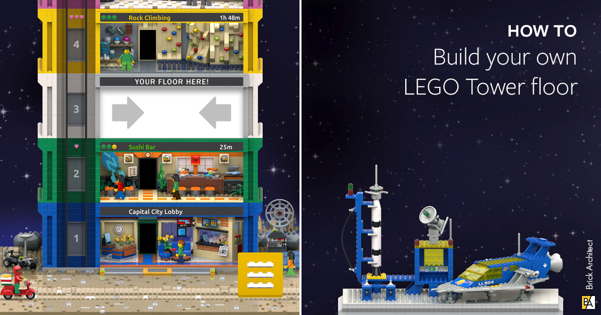 Build your own LEGO Tower floor - BRICK ARCHITECT