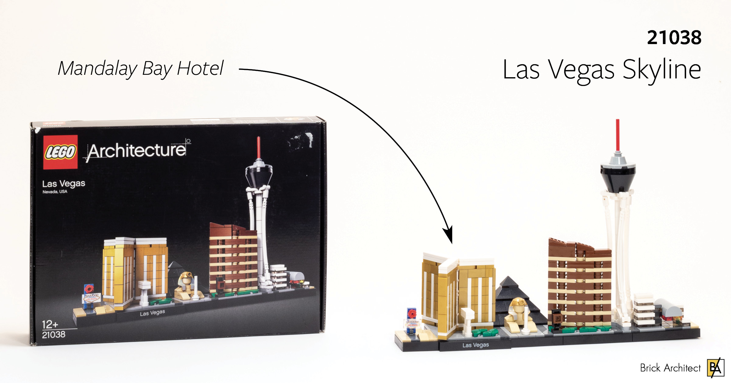 ʀᴇᴠɪᴇᴡ: #21038 Las Vegas Skyline (with Mandalay Bay
